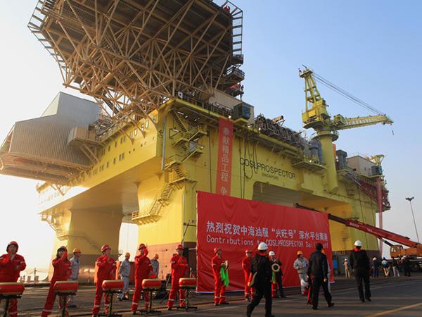 """第二座""""中国制造""""深水钻井平台驶向南海"""