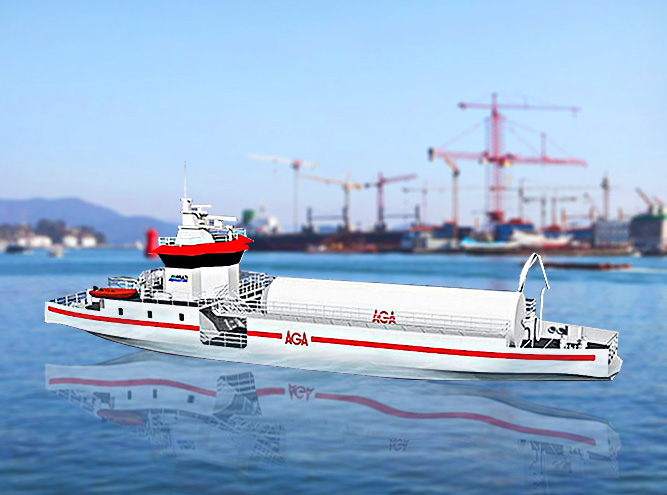 LNG filling boat