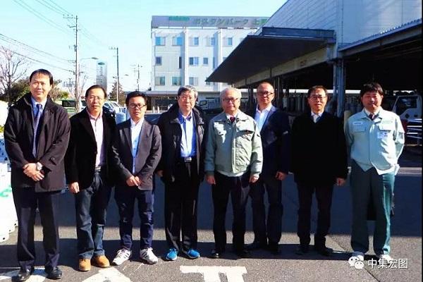 周伟明秘书长一行对日本LPG带泵车及小型储罐进行考察
